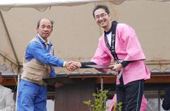 環境基金贈呈式&植樹祭(長野県小諸市糠地)