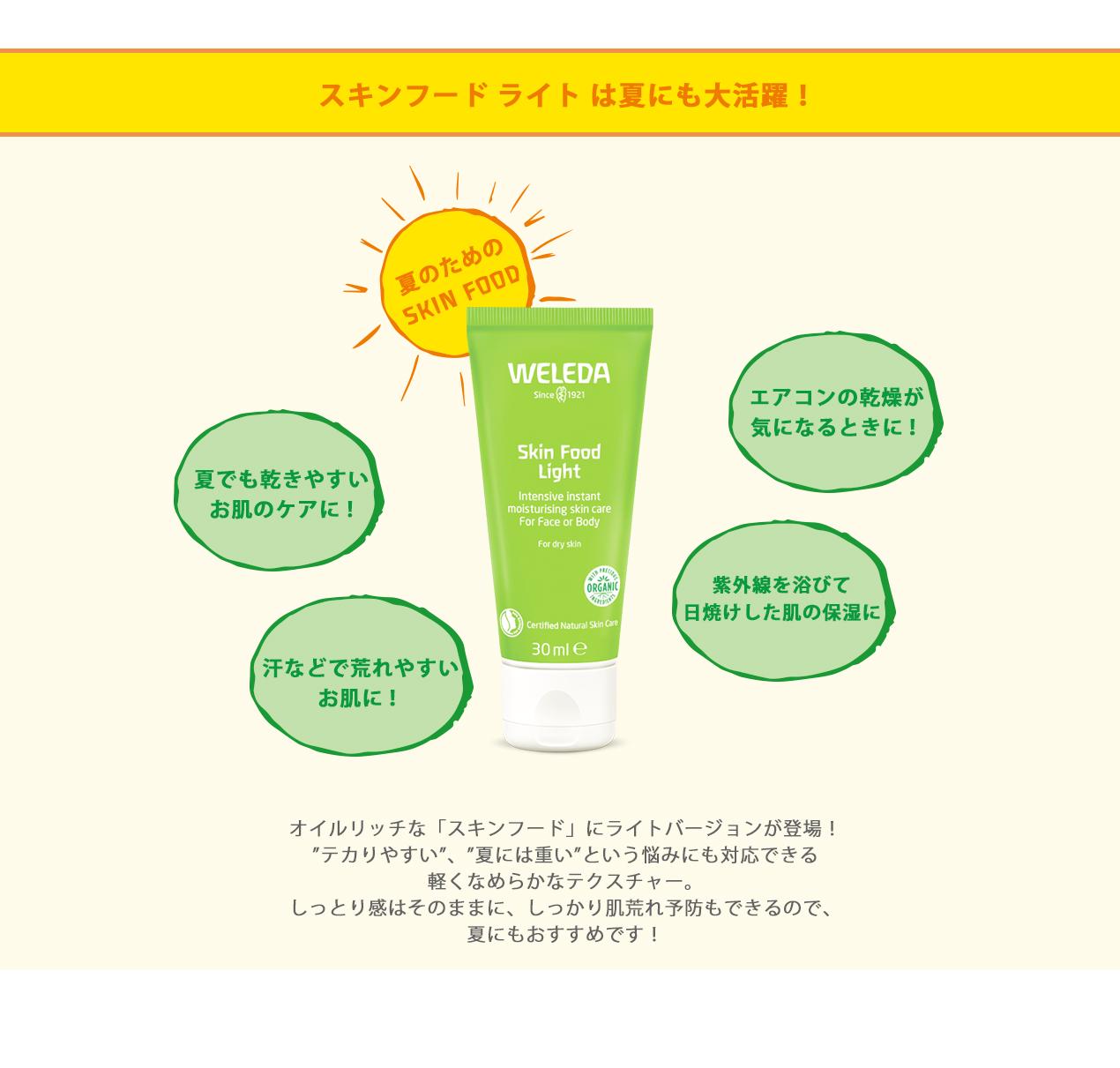 【ヴェレダ】スキンフードライト 6/20(木)全国発売開始!